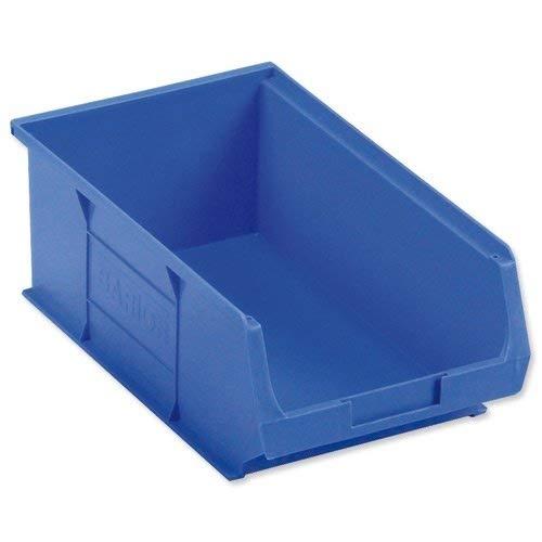 Barton Storage TC4 Container Bin Heavy Duty Polypropylene W350xD205xH132mm Blue Ref 10041 [Pack of 10]