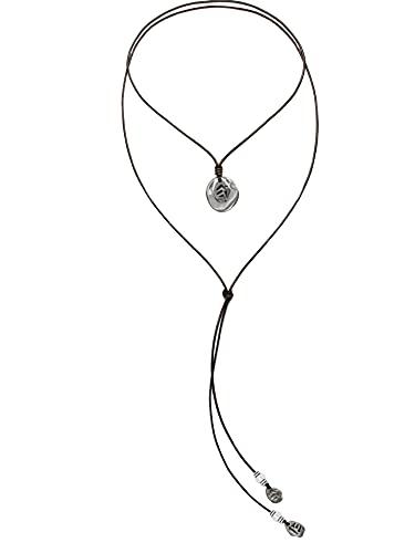 Beau Soleil Jewelry Lederkette Damen Halskette Lederbandkette Lederschmuck Tribal Coins Ibiza Style (Braun)