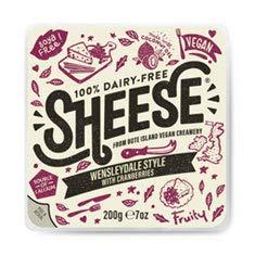 Sheese QUESO CON ARANDANOS 200g (VEGANO) Sin Lactosa Pack de 6