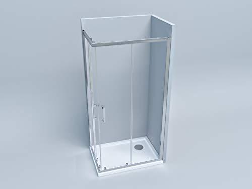 Box doccia cabina angolare rettangolare profilo cromato e cristallo temperato 6 mm 70x70 70x90 80x80 90x90 70x100 70x120 80x100 80x120 (70x100)