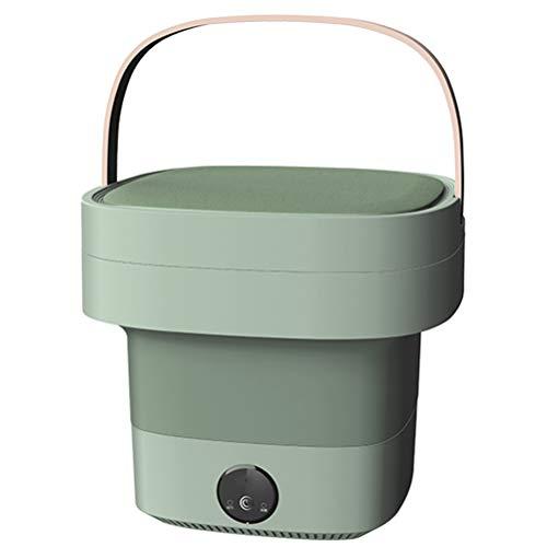 Mini-Waschmaschine, zusammenklappbare Unterwäsche-Waschmaschine, 4,5 l, tragbarer lautloser Turbo-Baby-Kleidungseimer mit Griff, doppelter Ablaufauslass, Socken-Waschmaschine für Schlafsaal(EU)