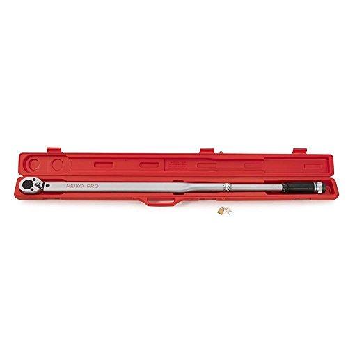 "NEIKO PRO 03710B 3/4"" Drive Adjustable Click Torque Wrench | SAE | 100-700 Foot-Pound | Chrome Vanadium Steel | 48"" Length"