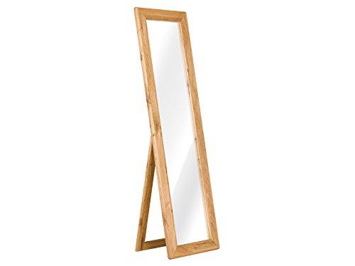 massivum Spiegel Keno 50x175x6 cm Eiche braun geölt