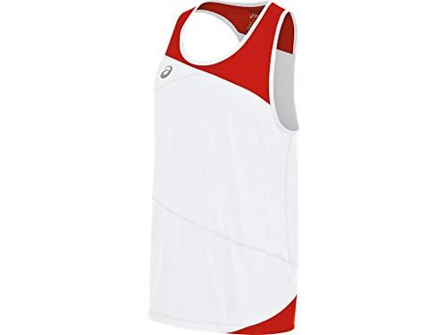ASICS Gunlap Singlet, White/Red, Large
