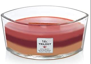 WoodWick Autumn Harvest Trilogy - HearthWick Flame Scented Candle 3 in One