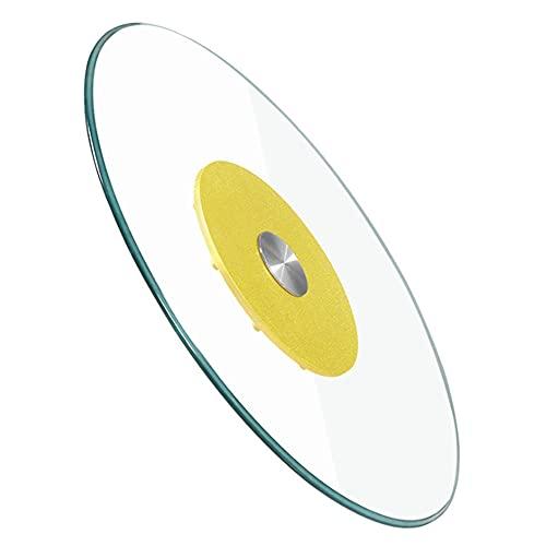 Mesa giratoria de cristal templado Lazy Susan, mesa de comedor, bandeja giratoria redonda para servir el hogar, con base de metal silenciosa y no fácil de inclinar, diámetro 70-100 cm
