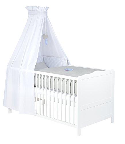 Julius Zöllner Parure de lit avec tour de lit et ciel de lit Motifs brodés