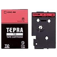 (まとめ) キングジム テプラ TR テープカートリッジ パステル 9mm 赤/黒文字 TC9R 1個 【×4セット】