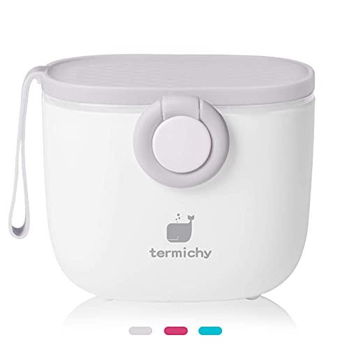 Termichy Dispenser per il latte in polvere, 250g Dispenser di Polvere Formula, portatile contenitoredi latte in polvere per neonati(grigio)