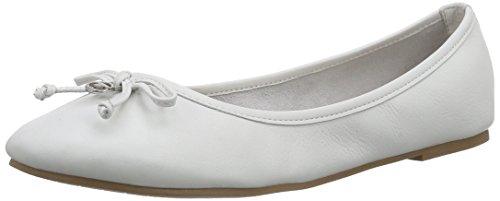 TOM TAILOR Damen Damenschuhe Geschlossene Ballerinas, Weiß (White), 37 EU