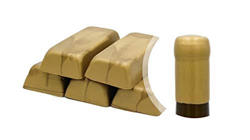 Boîte de 500 g. Gomme laque or metallique ou cire souple pour sceller bouteilles de vin, bière, eau-de-vie, liqueur (or, 500)