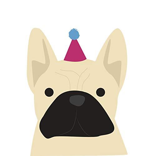 Franse Bulldog (Fawn) Verjaardagskaart door Heather Alstead