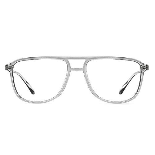 TIJN Retro Quadratische Blaulichtfilter Brillen Gläser für Damen Herren Ohne sehstärke Computer Brillen Leichte Fassung
