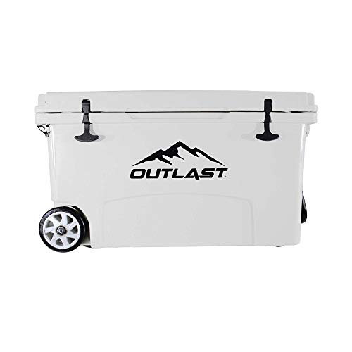 Outlast Life 80 Qt OD Series Rotomolded Premium Ice Cooler with Cutting...