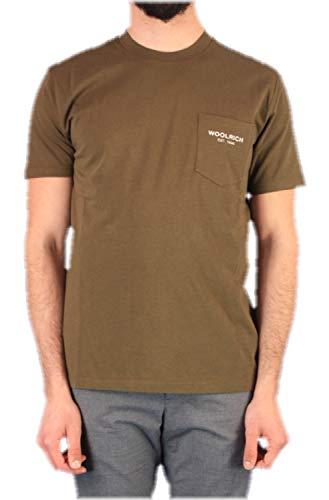 WOOLRICH WOTE0037MR T-Shirt Manica Corta Uomo Verde M