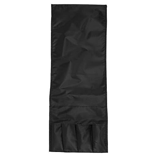 SJSP Organizador del soporte del mando a distancia del sillón del sofá de la bolsa de almacenamiento portátil de cuatro puertas plegable de 3 colores (negro)