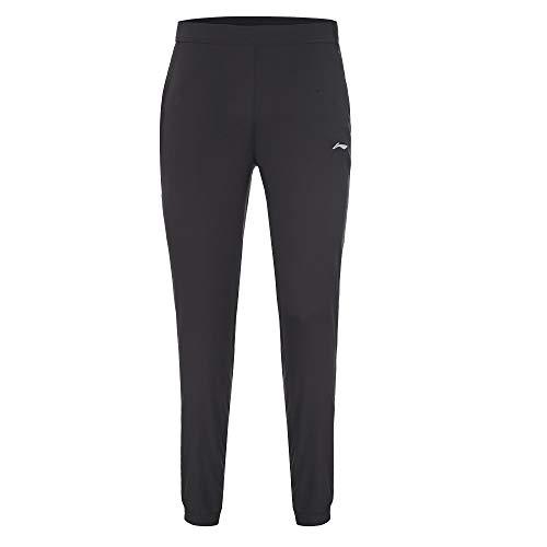 Li-Ning Lavin Noir, Pantalon Long Fluide Homme. (XL)