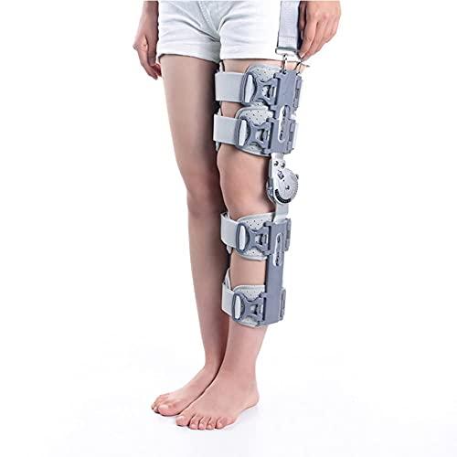 Rodillera ROM con bisagras, Rodillera ajustable, Rodillera para recuperación, estabilización y lesiones, Estabilizador de soporte ortopédico ajustable después de la cirugía Tamaño universal de la pier