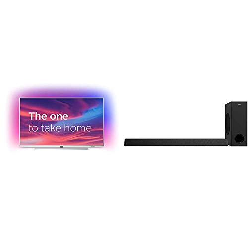 Philips 55PUS7304/12 55-Inch 4K Android Smart TV with Philips HTL3320/10 Subwoofer Soundbar