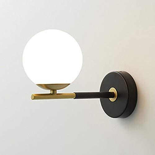 De enige goede kwaliteit Decoratie Scandinavische Moderne Woonkamer Zwart Goud Slaapkamer Restaurant Bar Balkon Corridor Trappen Aisle Melk Wit Glas Lampenkap Wandlamp 12x18x23m