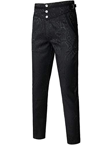 Machine Wash, With Simlar Colors,Do Not Blench, Multi-pocket,Very soft and super comfy to wear No belt required, adjustable buckles on both sides A bit of stretch adds comfort and flexibility to these classic slim-fit victorian style Occasion:Suitabl...