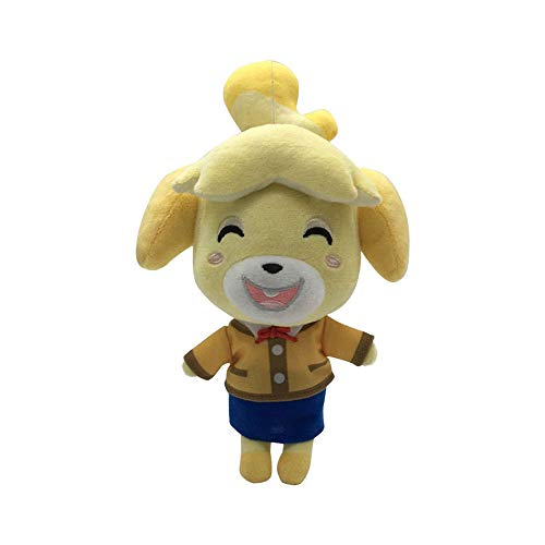 Sanyio Animal Crossing Juguete de Peluche 20.5cm Isabelle Animal Crossing Cute Animal Friends Peluche de Peluche Anime Doll Gift para niños Niños Niñas Adultos