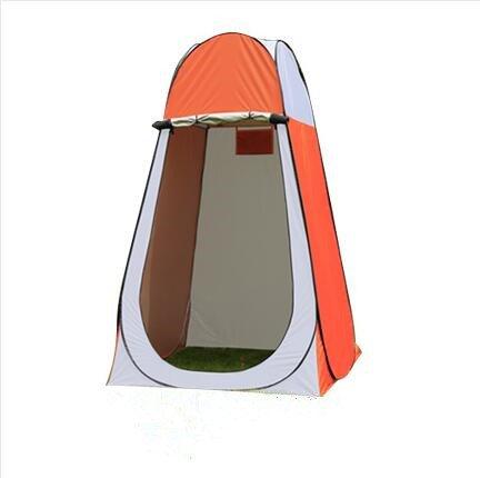 Camper Outdoor Single und Double Automatische wechselnden Zelte Baby Baden Bad Warm und dick Zelte Angeln WC-Zelte, Orange