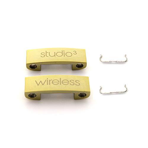 Ersatz-Kopfbügel Metall Klappscharnier Clip Cover Pin Reparaturteile Set Kompatibel mit Studio 3 Studio 3.0 Wireless Over-Ear Kopfhörer (Gold)