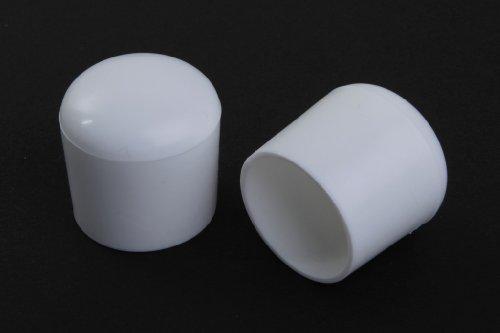 4 Stück Stuhlbeinkappe Stuhlbeinschutz Bodenschutz Stuhlschoner Kunststoff weiss Durchmesser 28mm, für alle Böden im Innen- und Aussenbereich