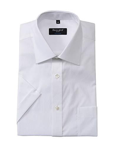 Bexleys man by Adler Mode Herren Dresshemd Kurzarm in Uni, Regular FIT weiß 50