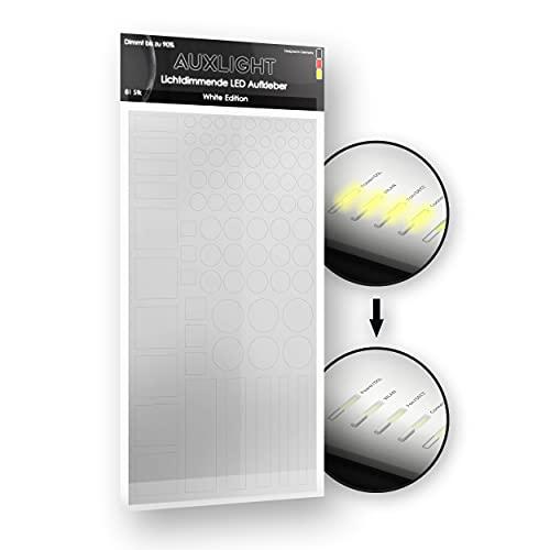 Auxlight LED-skydd, ljusdimmer folie självhäftande, klistermärken för elektroniska apparater, hemmakontor, TV, ljusklocka, router, rökdetektorer mörklägger, dämpar upp till 90 %, sömnhjälp, bättre sömn