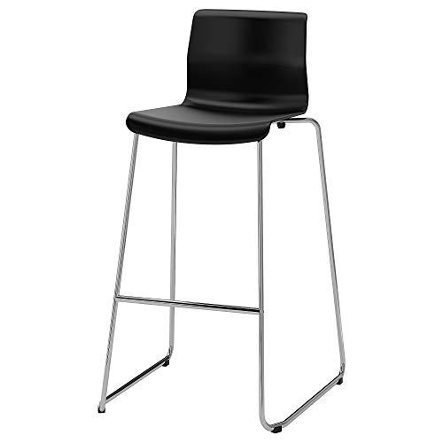 GLENN Barhocker 50x52x100 cm schwarz/verchromt