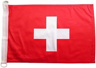 Zwitserland NAUTICAL Vlag 45x30 cm - Zwitserse vlaggen 30 x 45 cm - Banner 12x18 in voor boot - AZ FLAG
