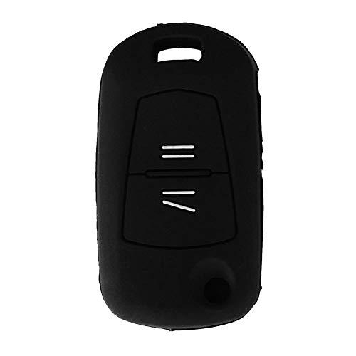 DkelBA 2 Botones Funda de Silicona para Llave Fob Funda con Tapa Plegable Carcasa para Llave de Coche Sin Logotipo, para Opel Corsa Astra