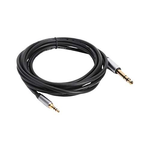 ULTECHNOVO 3 5 mm 1/8-Kanal auf 6 35 mm 1/4-Kanal-Adapter Stereo-Audiokabel Goldbeschichtetes Klinken-Audiokabel Kompatibel für iPod Aptop Heimkino-Geräte Verstärker 3 m