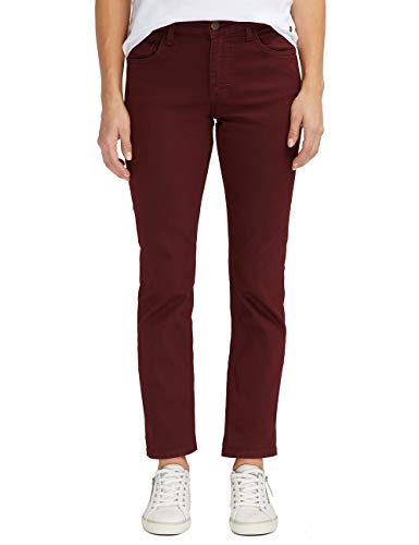 MUSTANG Damen Jeans Rebecca Comfort Fit Rot Rosa Grau W27 - W34 Stretchjeans Hose 78% Baumwolle, Größe:W 29 L 32, Farbvariante:Tawny Port (7199)