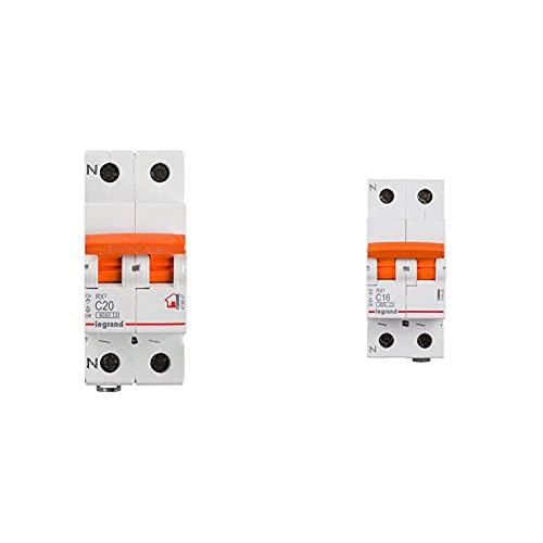 Legrand, Interruptor Diferencial, Protector de sobrecargas, 20A + 419926E Interruptor automático magnetotermico