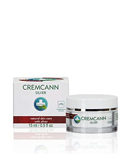 Annabis CREMCANN SILVER Natural Hamp Cream | ACNE | PICKEL | EKZEMA | för lokal applicering på huden efter munsår och akneutbrott, med kolloidalt silver, 15 ml.