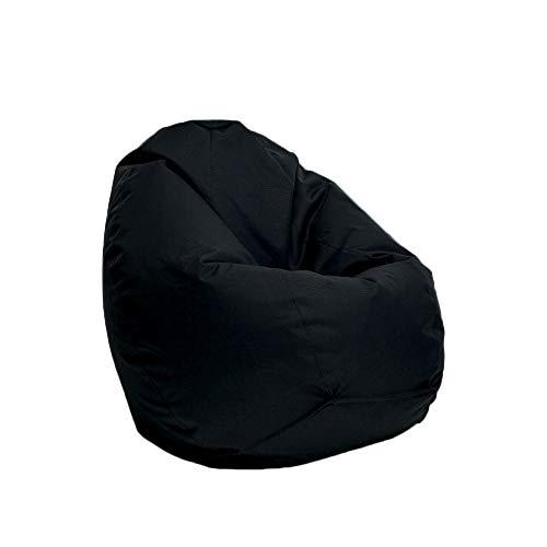 Bruni Sitzsack Classico L in Schwarz – XL Sitzsack mit Innensack zum Lesen, Abnehmbarer Bezug, lebensmittelechte EPS-Perlen als Bean-Bag-Füllung, aus Deutschland