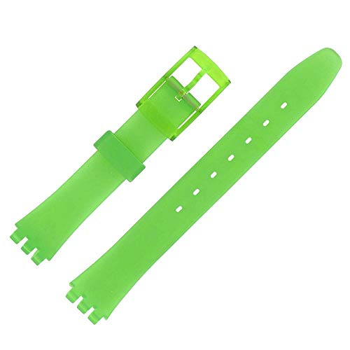 Shopkdo - Correa de reloj de 12 mm, color verde árbol alternativo, adaptable para reloj Swatch P38