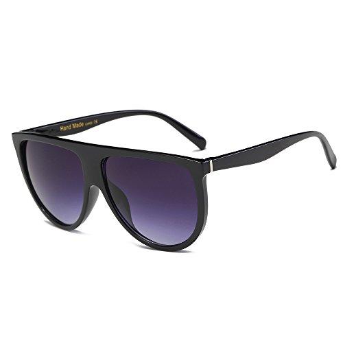 FRAUIT Mode Unisex Vintage schattierte Linse dünne Brille Mode Sonnenbrillen Sonnenbrille Unregelmäßige Gläser Mode Spiegel Retro Sonnenbrille Pilot - Farben Brillen-Rahmen gegen Blaue