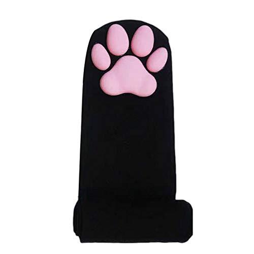 Damen Katzenpfoten Strümpfe Animal 3D Fashion Socken Highs Strümpfe Atmungsaktiv Bequem Über Die Kniestrümpfe Für Cosplay Pfotensocken