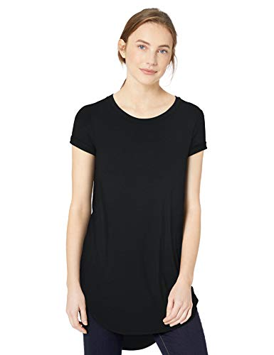 Daily Ritual Women's Jersey Short-Sleeve Open Crewneck