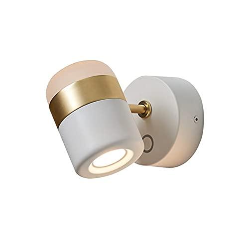 YXLMAONY Lámpara de Pared Interior Individual Moderna, lámpara de Noche Pantalla de acrílico, lámpara de Pared de Hardware, lámpara de Pared Decorativa de Pared de Fondo de Sala de Estar, iluminación