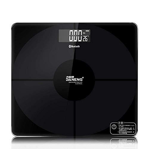 Báscula de pesaje digital báscula de peso corporal, báscula de baño de peso inteligente para el hogar, báscula electrónica para el hogar, balanza de pesaje para el hogar, 180 kg, negro YXF99