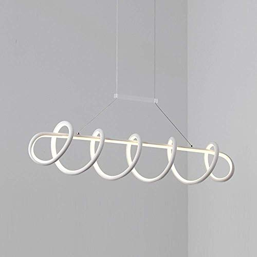 Lámpara colgante de luz LED, soporte de iluminación colgante, moderna luz colgante de acrílico en espiral, lámpara colgante de isla LED, iluminación colgante para uso en salón moderno