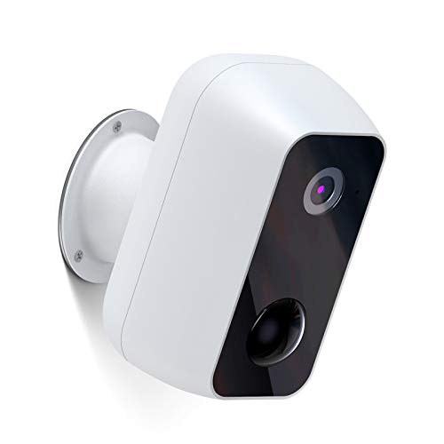 Überwachungskamera mit Akku 12000mAh, Ltteny PIR-Bewegungserkennung Kamera,2-Wege Audio,1080P WLAN IP Kamera Outdoor Nachtsicht,IP65 wasserdichte WiFi Sicherheitskamera für Weiß