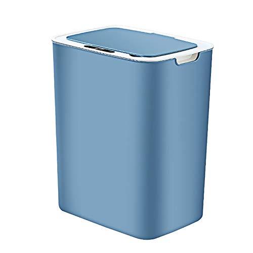 LXVY 15L Papelera automático con Sensor Bote de Basura Inteligente Sellado de olores Tapa del Cubo de Basura sin Contacto Automático y versátil para baño Dormitorio Cocina Oficina,A