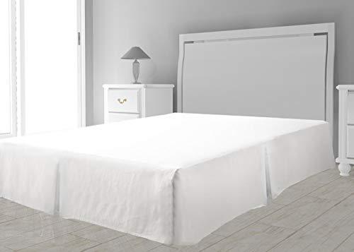 Intemporel Cache sommier Microfibre, Polyester, Blanc, 140 x 190 cm
