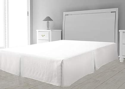 Cubre somier de Microfibra 90 x 190 cm Blanco